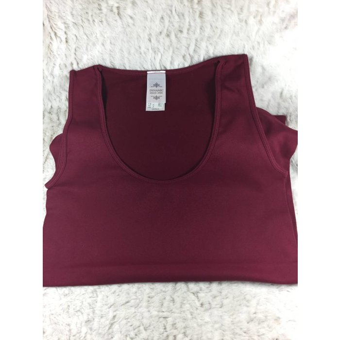 Smooth BURGUNDY Tank - ONE SIZE