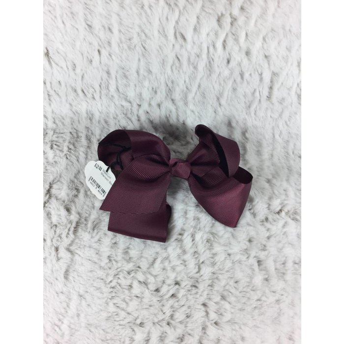 Medium Maroon Bow