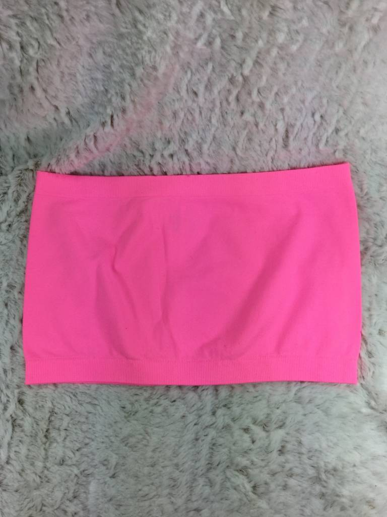Neon Pink Bandeau Bra One Size Theblingboxonline Com