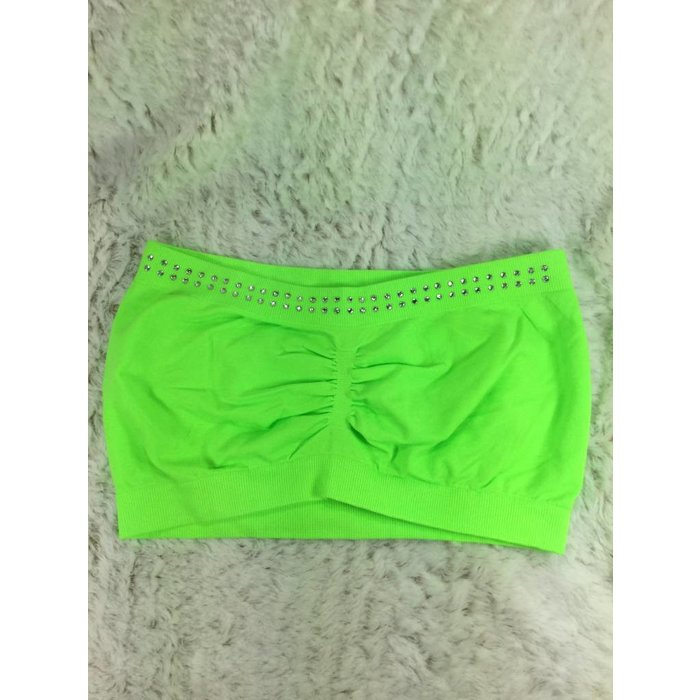 Lime Bling Bandeau Bra - ONE SIZE