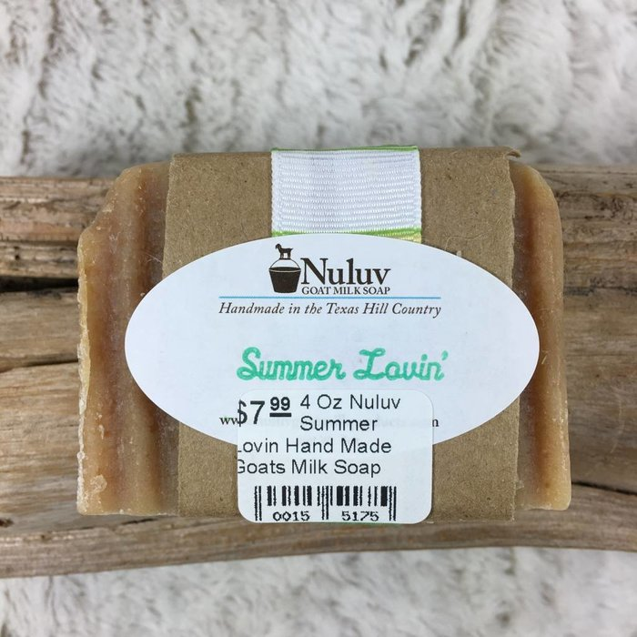 4 Oz Nuluv Summer Lovin Hand Made Goats Milk Soap