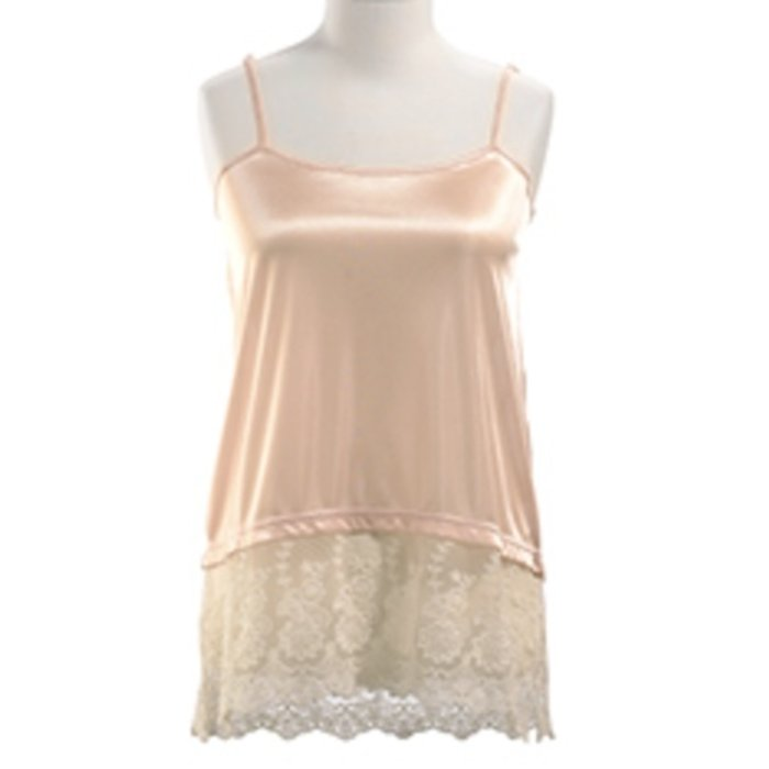 Short Lace Top Extender - Ivory Blush