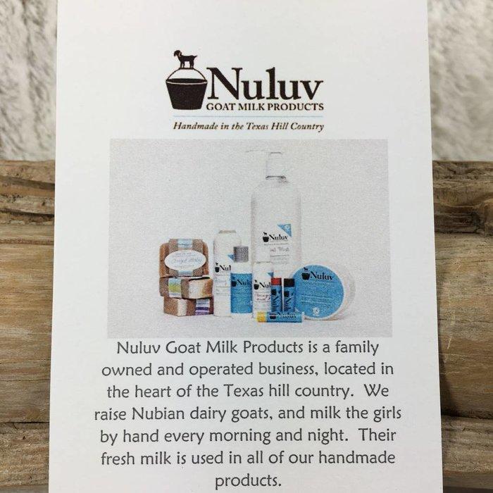 6 Oz Nuluv Lavender Hand Made Goats Milk Lotion