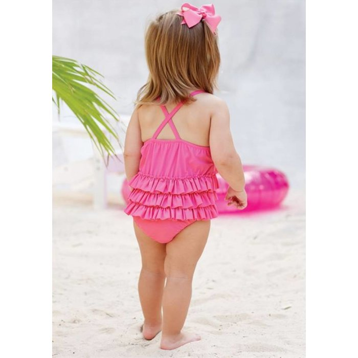 Mud Pie - Pink Ruffle Swimsuit