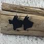 Leather Texas Earrings - Black