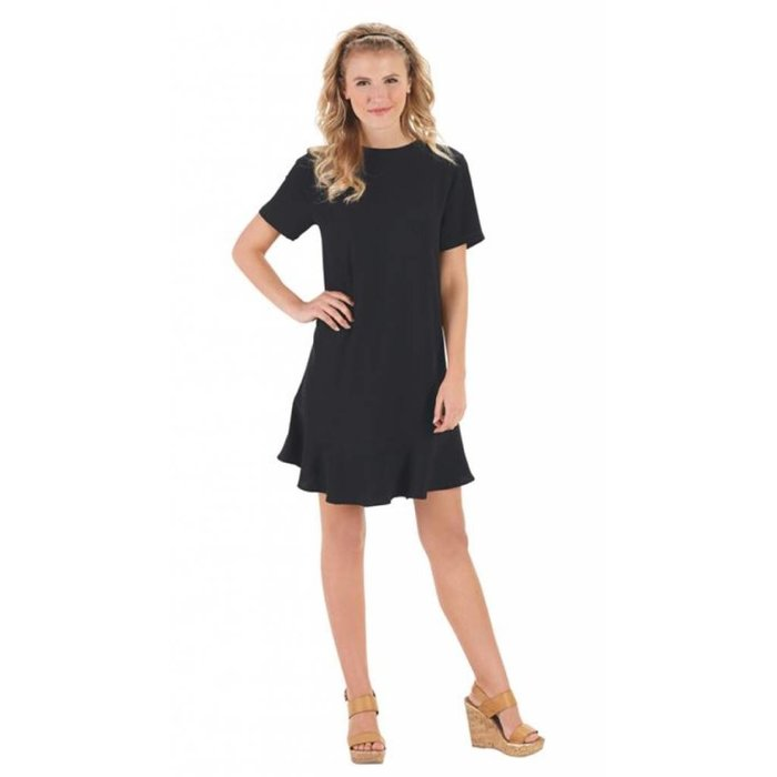 Farrah Flounce Dress Black