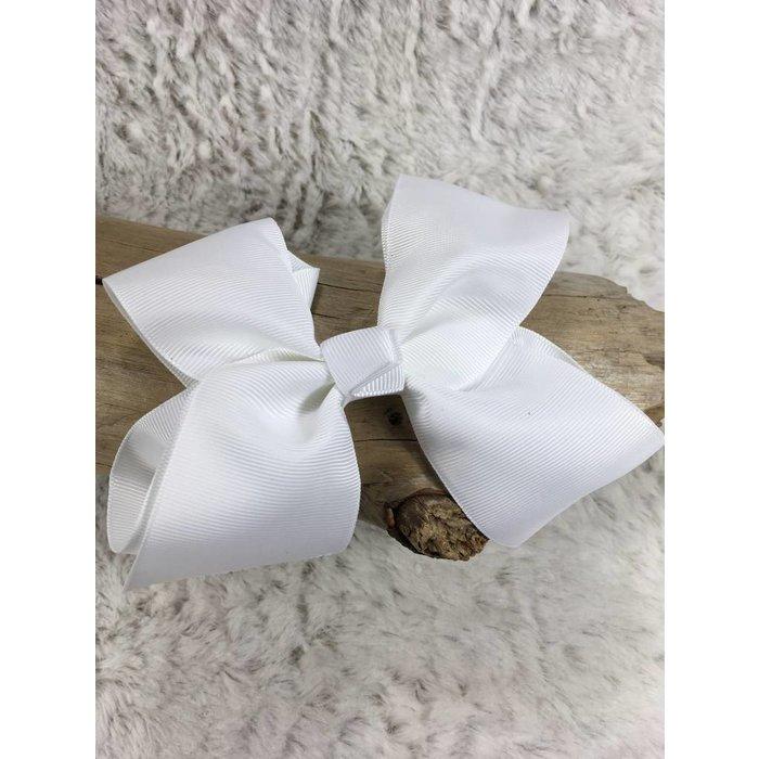 Medium White Bow