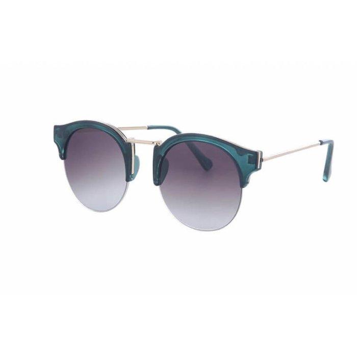 Translucent Cat Eye Sunglasses - Green
