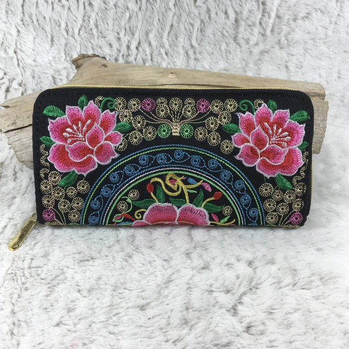 Bali Style Embroidered Wallet