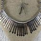 Silver Arrow Bib Necklace Set
