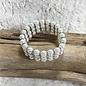 Pearl Stretch Bracelet with Rhinestones