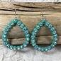 Open Teardrop AB - Turquoise Earrings