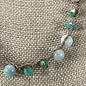Jade & Crystal Bead Knotted Necklace Set