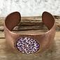 Copper Bracelet with AB Swarovski Crystal Oval