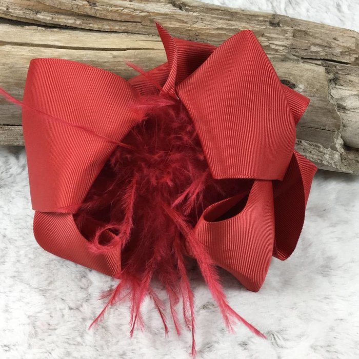 RED - OSTRICH BOW