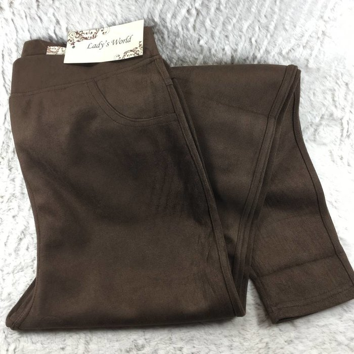 Brown Suede Leggings