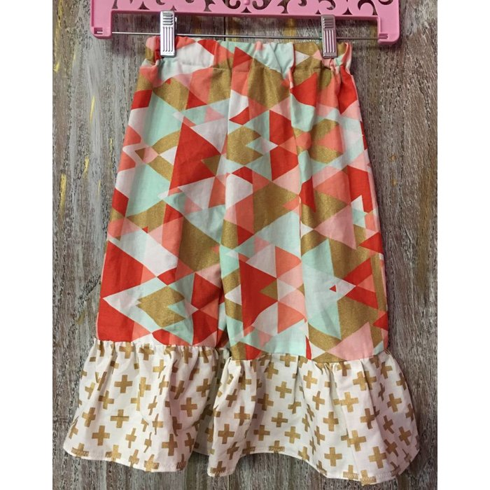 Kids Ruffle Multi Colored Pants Size 2T