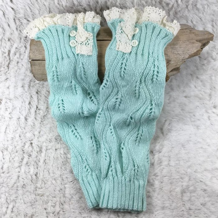 Kids Lace Boot Topper - MINT