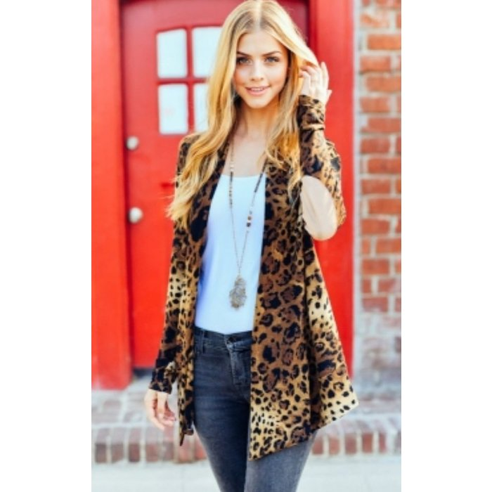 Plus Leopard Cardigan