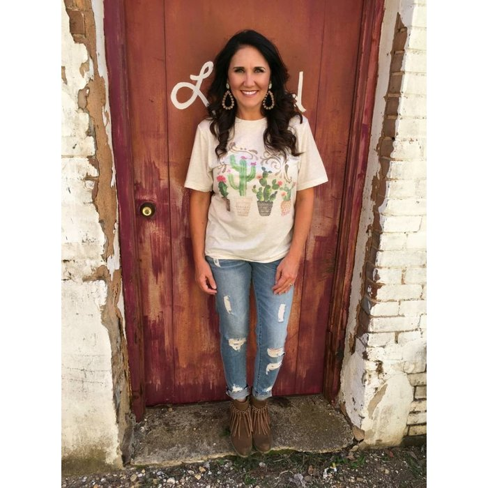 Cactus Potted Plant Vintage T-Shirt