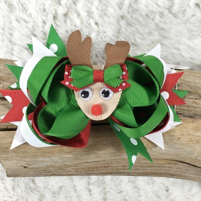 Reindeer Christmas Bow