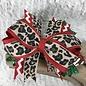 Leopard Christmas Bow