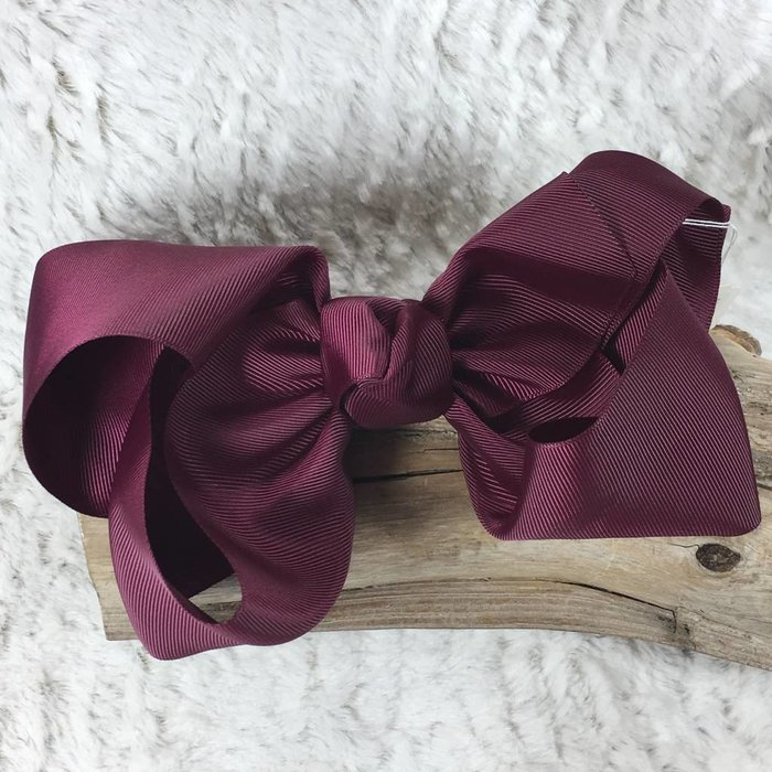Large Maroon Bow