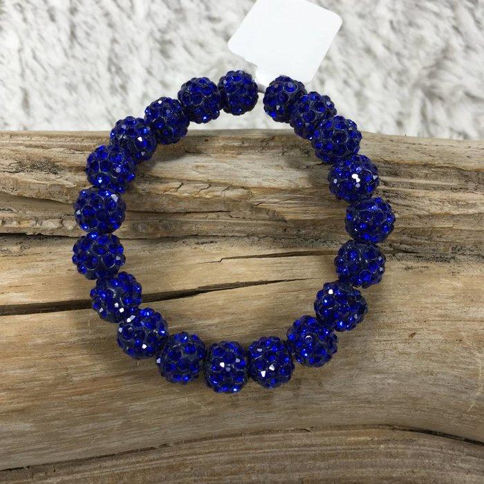 Crystal Beaded Bracelet - Royal Blue