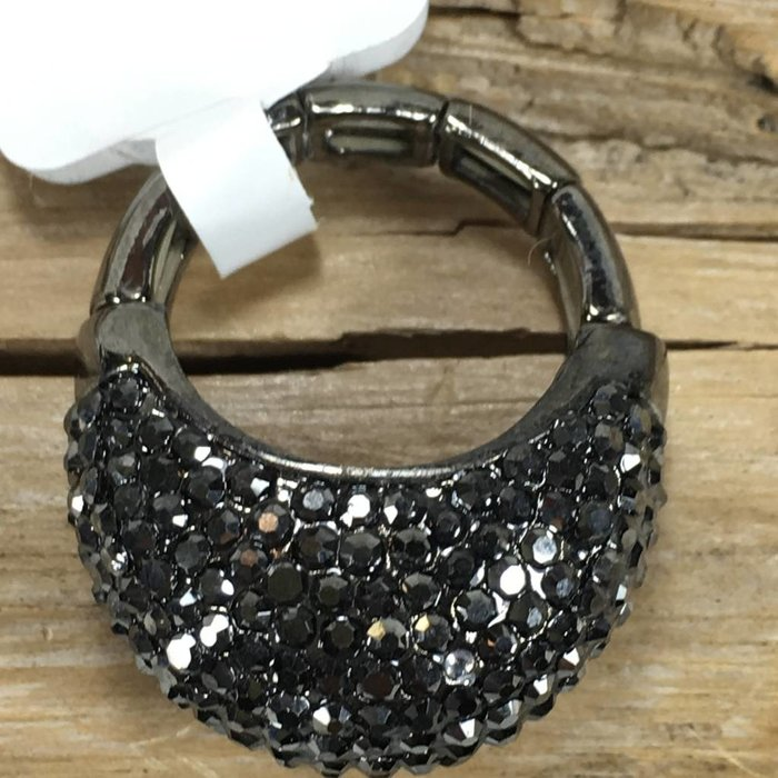 Charcoal Bling Stretch Ring