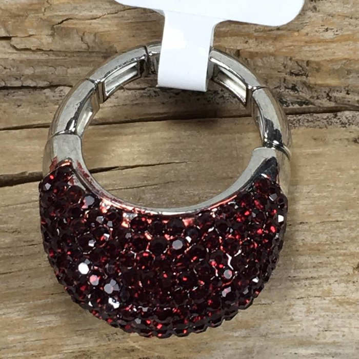 Red Bling Stretch Ring