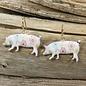 Cream Floral Pig Earrings