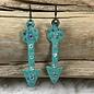 Turquoise Bling Arrow Earrings