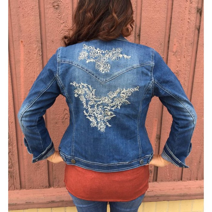 Embroidered Denim Jean Jacket