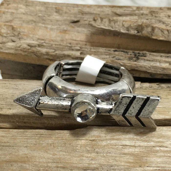 Silver Arrow Stretch Ring