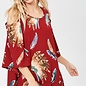 Indian Feather Cold Shoulder Top