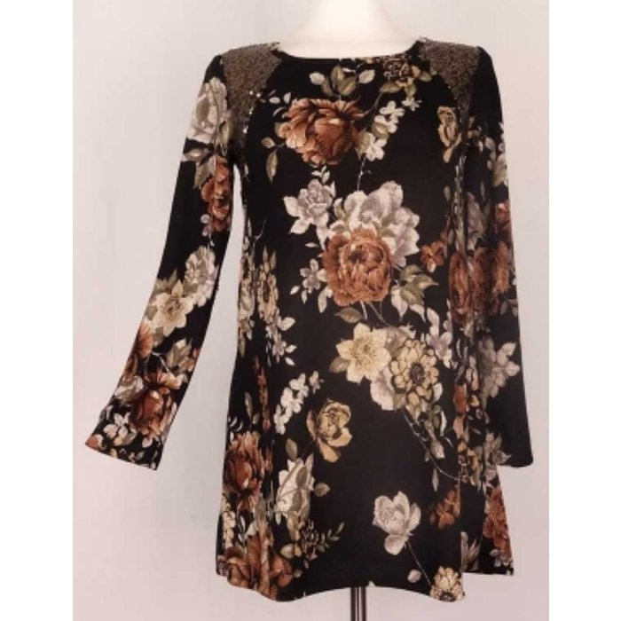 Floral Sequin Tunic