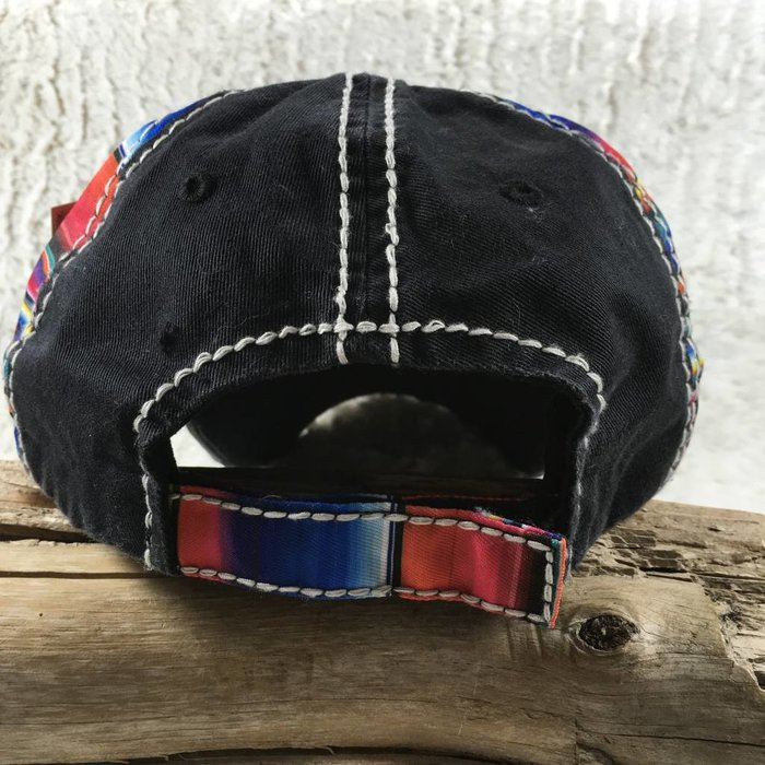 Horse Serape Black Hat - #4
