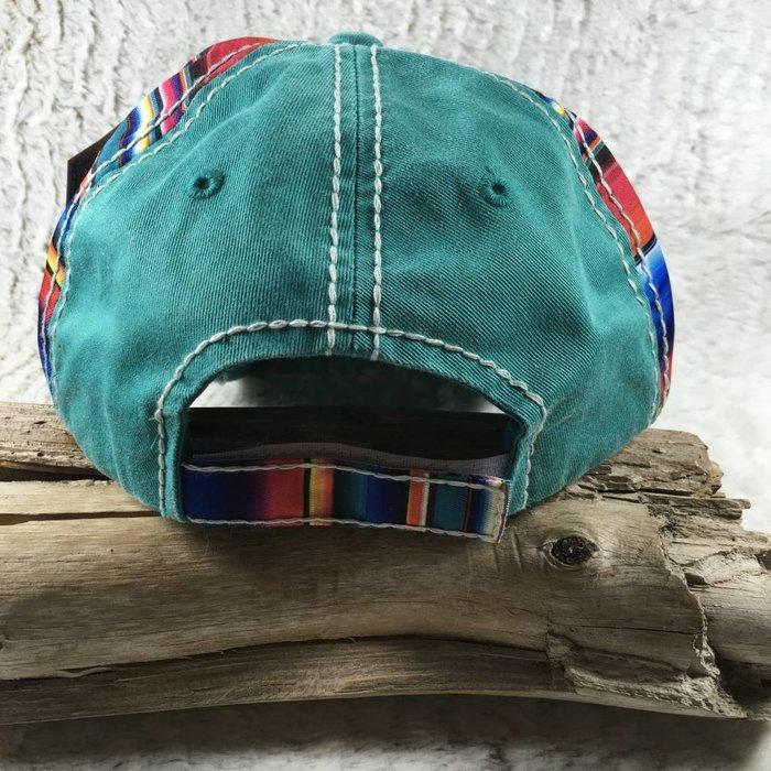 Horse Serape Turquoise Hat - #2