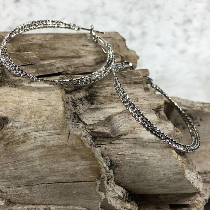 Silver Hoop Earrings #4