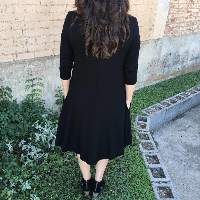 Black Grommet Lace Up Dress