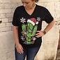 Christmas Cactus V-Neck T-Shirt