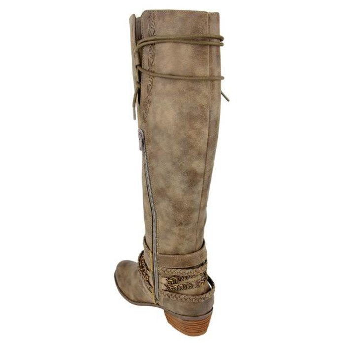 Jurupa Taupe Boot with Braided Straps