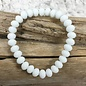 White Matte Stretch Bracelet