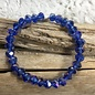 Blue Crystal Matte Stretch Bracelet