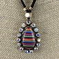Serape Teardrop Necklace - Gold