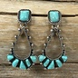 Wild Navajo Turquoise Earrings - SILVER