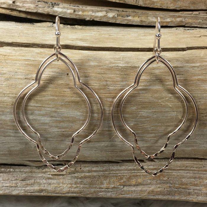 Gold Double Damask Earrings