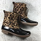 Yoki Leopard Faux Suede Dylan Rain Boots