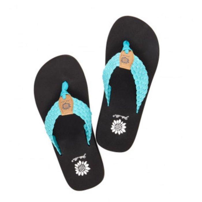 Turquoise Soleil Flip Flops