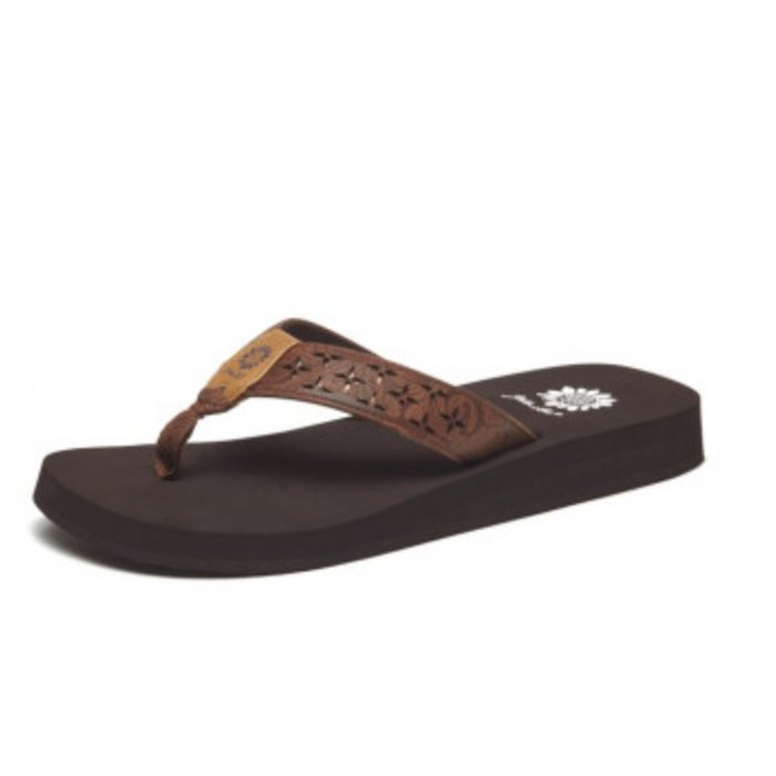 Yellow Box Brown Benji Flip Flops